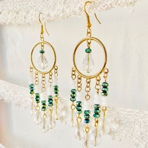 Nordstrom Gold chandelier earrings